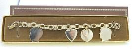 Vintage Gold Tone Engravable Charm Bracelet New Old Stock - $24.75