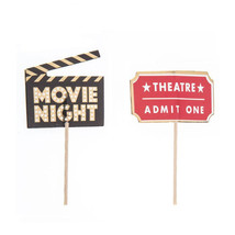 Movie Night Star Cupcake Toppers Birthday Party Supplies 24 Ct - $12.99