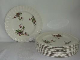 """10 Copeland Spode WICKER LANE Porcelain Vtg Dinner Plates Basket Weave 10 1/4"""" - $61.37"""