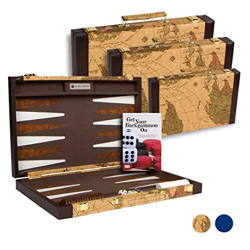 Get The Games Out Top Backgammon Set - Classic Board Game Case - Best Strategy & - $110.51