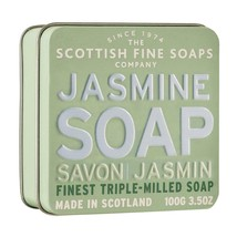Scottish Fine Soaps Luxury Soap Jasmine Soap in a Tin 100g 3.5oz - $15.60
