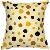 Pillow Decor - Polka Dot Confetti Yellow Cotton Throw Pillow 17X17 - $29.95