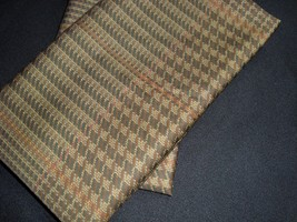 New Ralph Lauren Standard 2 Pillowcases W Piped Cuff Brown Plaid Houndstooth - $69.99