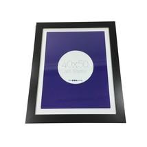Negro Liso Madera Cristal Colgante de Pared Marco de Fotos 47cm X 57cm X 2cm - $24.56