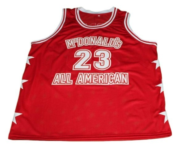 Michael jordan  23 mcdonald s all american new men basketball jersey red   1