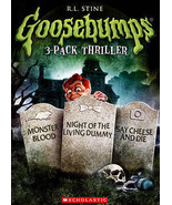 Goosebumps: Monster Blood/Night of the Living Dummy/Say Cheese and Die (... - $10.98