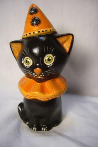 Valliancourt Folk Art, Cute Halloween Cat