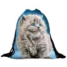 Ackpacks cat 3d printing high quality nylon drawstring backpack fashion design bags sac thumb200