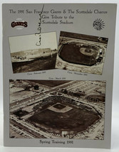 San Francisco Giants Spring Training Program 1991 Signed Copy Baseball 20- - $14.20