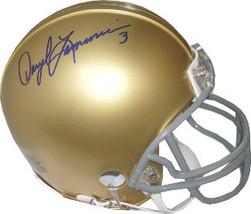 Daryle Lamonica signed Notre Dame Fighting Irish Mini Helmet - $49.95