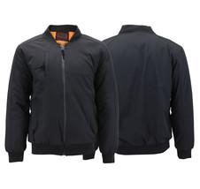 Men's Multi Pocket Water Resistant Industrial Uniform Quilted Bomber Work Jacket image 1