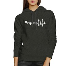 Momlife Dark Grey Unisex Hoodie Unique Design Perfect Gift For Moms - $25.99+