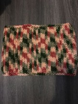 Scarf Loop Cowl Soft Lightweight Crochet Knit Winter Peach Green Handmad... - $6.83