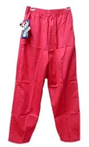 Coral Small Elastic Waist Medical Scrub Wear Women's Scrub Pants 576-77 New - $16.63
