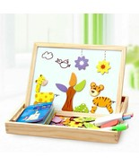 Toys Wooden Magnetic Puzzle Abs Children 3d Figure Circus Drawing Board ... - $16.91+