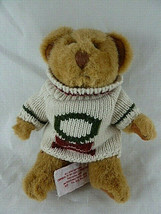 "Russ Berrie 8"" Teddy Bear Jointed Plush in Christmas knitted sweater Vin... - $7.91"