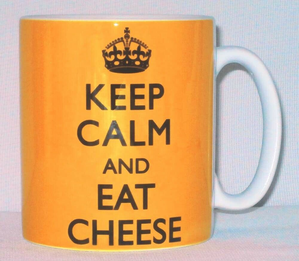 Keep Calm And Eat Cheese Mug Can Personalise Great Chef Maker Pizza Lover Gift