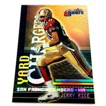 Jerry Rice 2000 Fleer Gamers Yard Chargers Insert #5 NFL HOF 49ers - $2.92