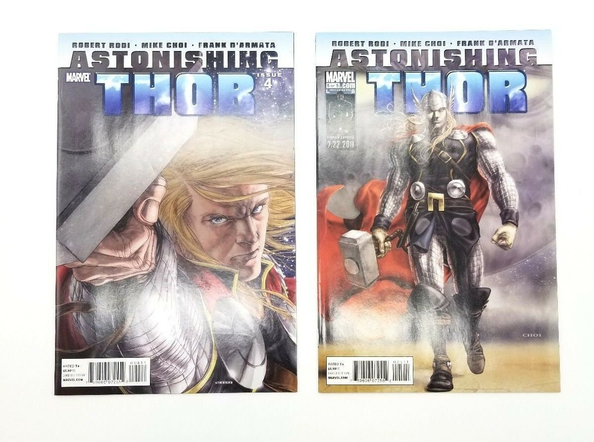 Astonishing Thor 4 & 5 Volume 1 January 2011 Marvel Comics Book Choi D'Armata