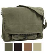 Vintage Military Messenger Shoulder Bag Paratrooper Stonewashed School L... - $24.99