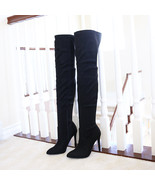 josh black over the knee stretch boots - $39.99
