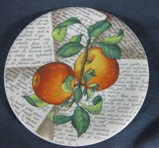 Ceramica Due Torrie Fruit Apples Round Salad Lunch Plate Italy EUC - $14.95