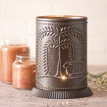 Country new Kettle Black punched tin electric WILLOW candle warmer /light - $29.85