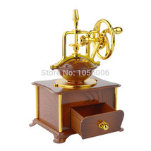 Gold Color Music Box Jewelry Compartment Clockwork Type Swivel 18 Tones ... - $24.74
