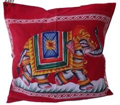 "18x18"" Cushion Cover 45x45 cm Pillow Case cotton hand painted  elephant ... - $11.88"
