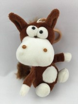 "Goofy Horse Stuffed Animal Keychain Clip Brown 6"" - $9.80"