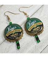 Lenses creamy dark Beer Real Bottle Cap Fashion Novelty Earrings Jewelry... - $3.60