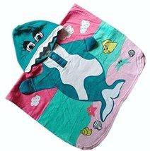 Lovely Cartoon Series Green Dophin Hooded Bath Towel (10060CM)