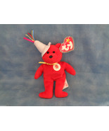 TY McDonald's Teenie Beanie Baby 2004 Happy Meal 25th Aniversary Red Bear - $1.73