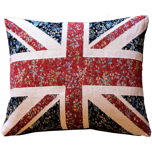 Primary image for Pillow Decor - United Kingdom Flag Tapestry Throw Pillow 15x19