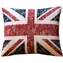 Pillow Decor - United Kingdom Flag Tapestry Throw Pillow 15x19 - £61.25 GBP