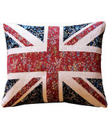 Pillow Decor - United Kingdom Flag Tapestry Throw Pillow 15x19 - $79.95