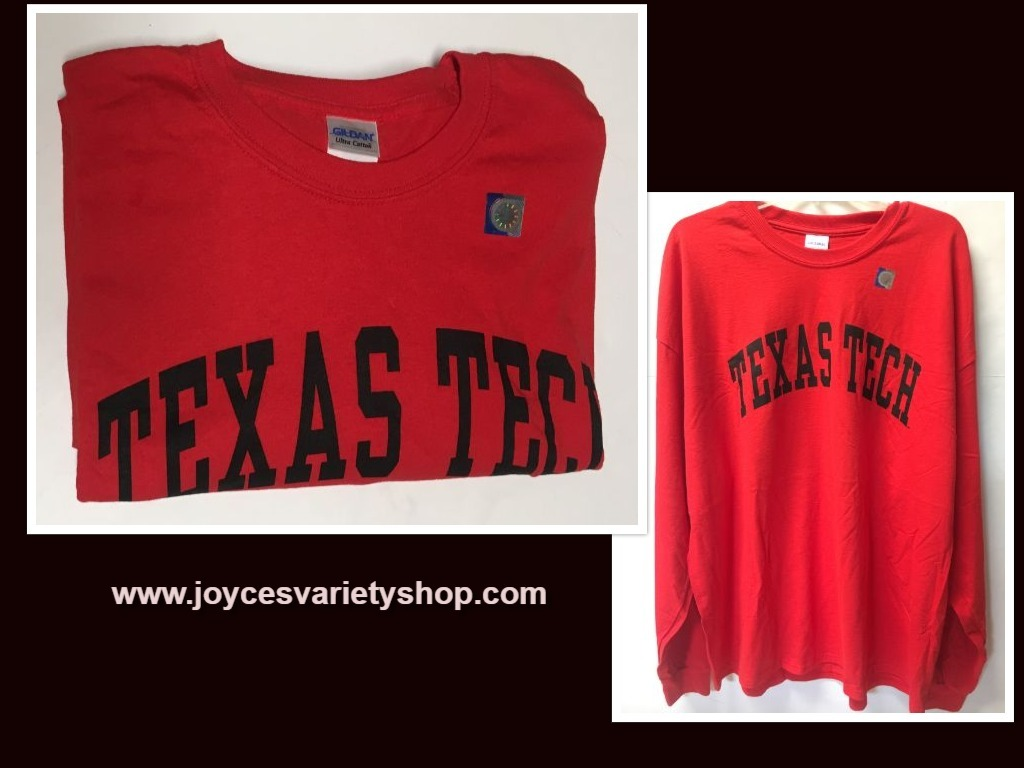 TEXAS TECH University Long Sleeve Jersey Shirt Sz 2XL
