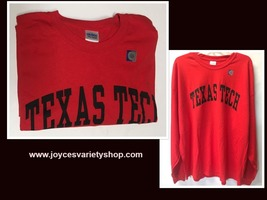 TEXAS TECH University Long Sleeve Jersey Shirt Sz 2XL image 1