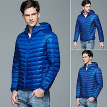 Men Hooded Ultra Light Down Jackets Winter 90% White Duck Down Warm Outw... - $45.99