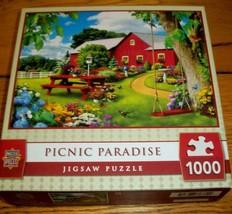 Jigsaw Puzzle 1000 Pcs Horse Farmhouse Birds Butterflies Flower Garden C... - $13.85