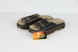 New Dr Martens Mens 7 Womens 8 Leather Air Cushion Slide On Sandals Slid... - $77.17