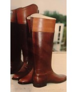 Leather Equestrian Riding Boots English Dress Boots Handmade Boots Free ... - $369.60