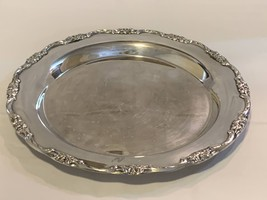 Silver Plated Tableware Platter with Ornate rim 13 inch  - $99.99