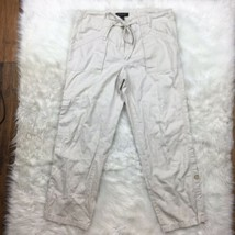 Ann Taylor Women's Cream Off White Drawstring Culottes Capri Pants Size 2 - $16.82
