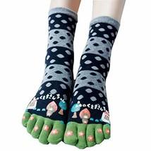 George Jimmy Tube Toe Socks Cotton Soft House Socks Cartoon Cute Socks-A10 - £10.10 GBP