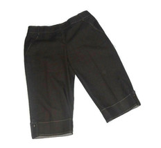 Ann Taylor Loft Marisa Capri Pants Women Size 8 Brown Faux Cuffed Denim ... - $2.97
