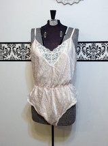 1960's Peachy Cream Pin Up Lace Teddy by Barbizon, Size Large, Vintage 1... - $49.99