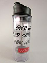 Bodom Give Up Bad Coffee For Good Insulated Travel Mug Tumbler Infuser T... - €16,72 EUR