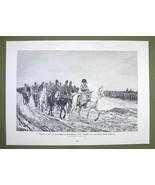 NAPOLEON in Winter Defeat 1814 Retreat from Russia - VICTORIAN Era Print - $12.14