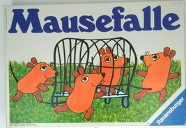 Vintage Ravensburger Board Game Mausefalle caccia al  topo 1980 West Germany - $69.26